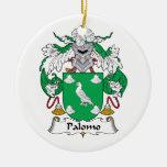 Escudo de la familia de Palomo Ornamento Para Arbol De Navidad
