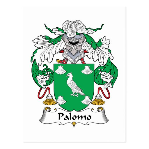 Escudo de la familia de Palomo Postal