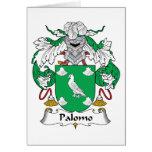 Escudo de la familia de Palomo Tarjeta