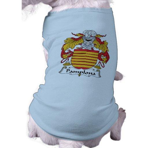 Escudo de la familia de Pamplona Camisetas Mascota