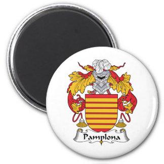Escudo de la familia de Pamplona Imán Redondo 5 Cm