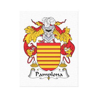 Escudo de la familia de Pamplona Impresión En Lona