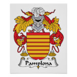 Escudo de la familia de Pamplona Poster