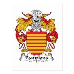 Escudo de la familia de Pamplona Tarjeta Postal