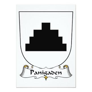 """Escudo de la familia de Panigaden Invitación 5"""" X 7"""""""