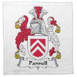 Escudo de la familia de Pannell Servilleta