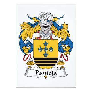 """Escudo de la familia de Pantoja Invitación 5"""" X 7"""""""