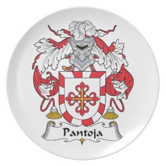 Escudo de la familia de Pantoja Plato