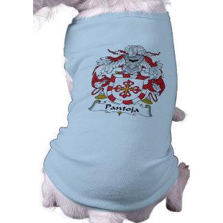 Escudo de la familia de Pantoja Playera Sin Mangas Para Perro