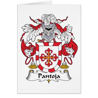 Escudo de la familia de Pantoja Tarjeta De Felicitación