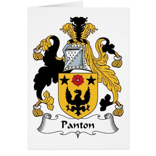 Escudo de la familia de Panton Tarjeta De Felicitación