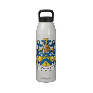 Escudo de la familia de Paquet Botella De Agua Reutilizable