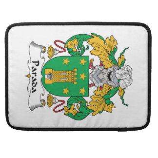 Escudo de la familia de Parada Fundas Para Macbook Pro