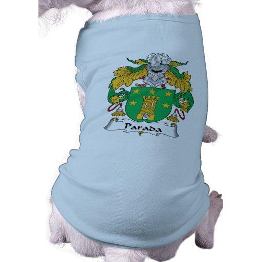 Escudo de la familia de Parada Playera Sin Mangas Para Perro