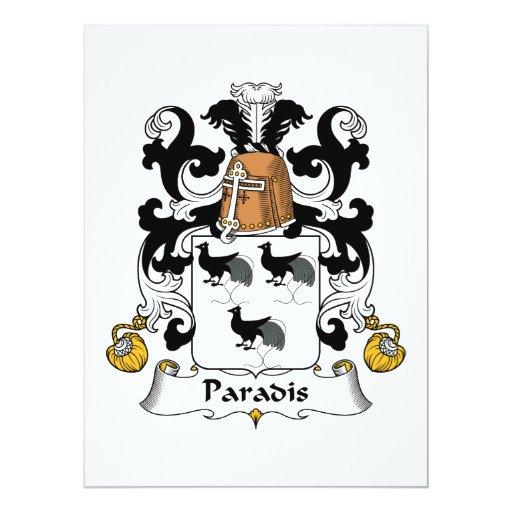 Escudo de la familia de Paradis Comunicados Personales
