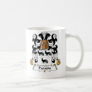 Escudo de la familia de Paradis Taza De Café