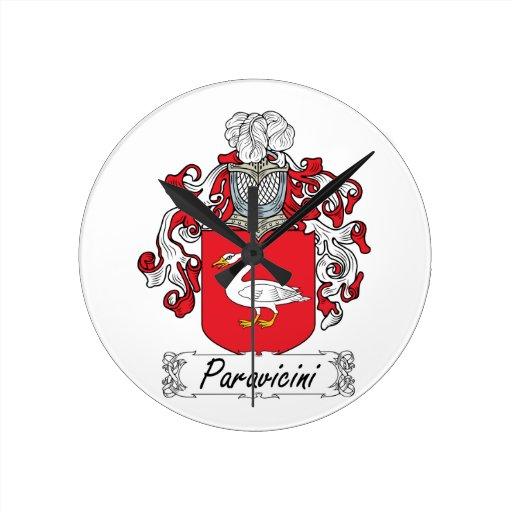 Escudo de la familia de Paravicini Reloj