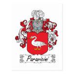Escudo de la familia de Paravicini Tarjeta Postal