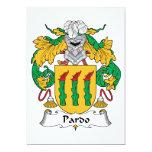 Escudo de la familia de Pardo Invitación 12,7 X 17,8 Cm