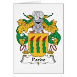 Escudo de la familia de Pardo Tarjeta