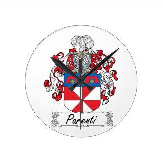 Escudo de la familia de Parenti Reloj