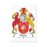 Escudo de la familia de París Lona Estirada Galerías
