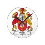 Escudo de la familia de París Reloj