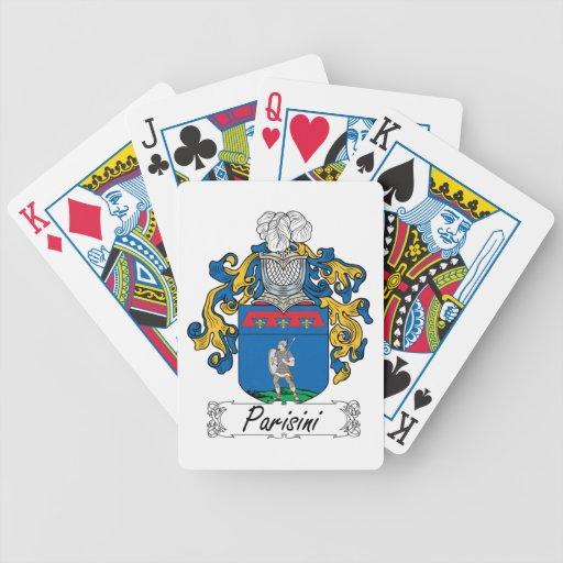 Escudo de la familia de Parisini Baraja Cartas De Poker
