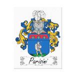 Escudo de la familia de Parisini Impresion En Lona