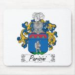 Escudo de la familia de Parisini Alfombrillas De Raton