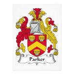 Escudo de la familia de Parker Comunicados Personales