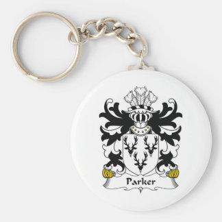 Escudo de la familia de Parker Llavero Redondo Tipo Pin