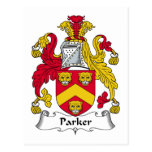 Escudo de la familia de Parker Tarjeta Postal