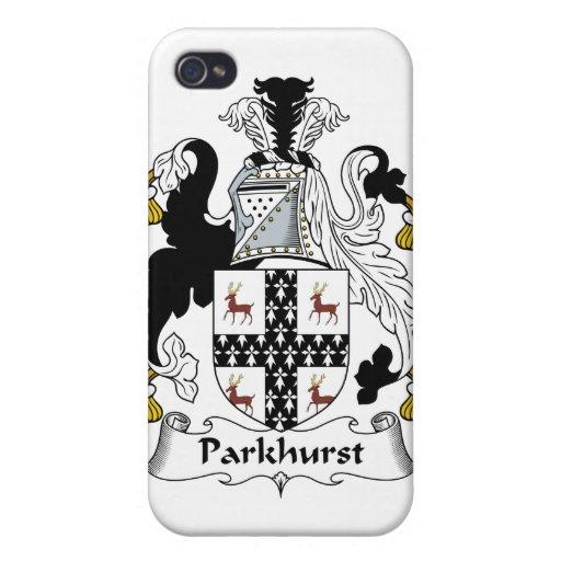 Escudo de la familia de Parkhurst iPhone 4/4S Carcasas