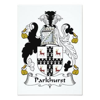 """Escudo de la familia de Parkhurst Invitación 5"""" X 7"""""""