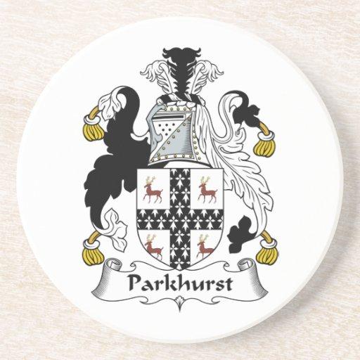 Escudo de la familia de Parkhurst Posavasos Personalizados