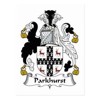 Escudo de la familia de Parkhurst Tarjeta Postal