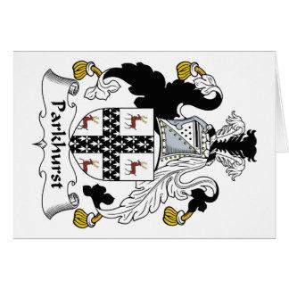 Escudo de la familia de Parkhurst Tarjetón