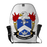 Escudo de la familia de Parkman Bolsa Messenger