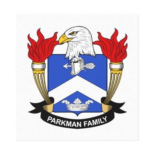 Escudo de la familia de Parkman Impresiones De Lienzo