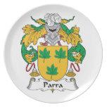 Escudo de la familia de Parra Platos