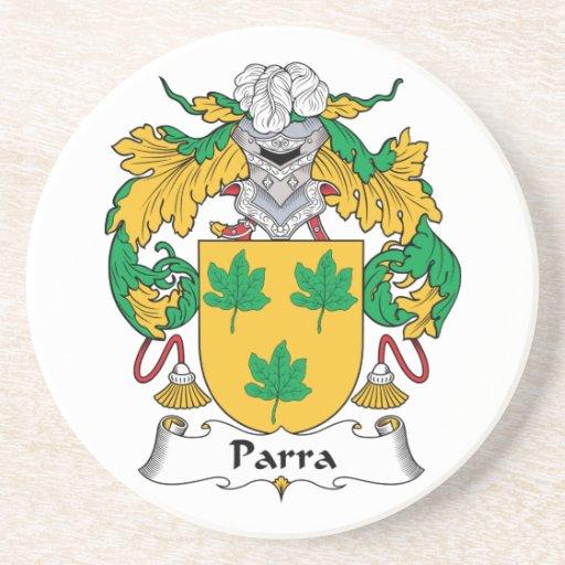 Escudo de la familia de Parra Posavaso Para Bebida