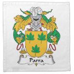 Escudo de la familia de Parra Servilletas