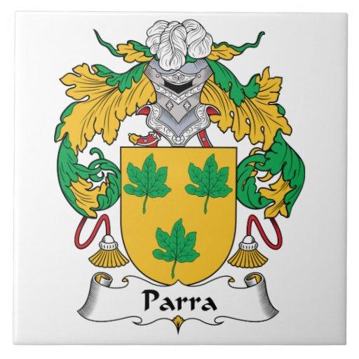 Escudo de la familia de Parra Tejas