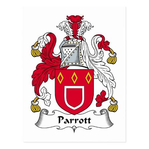 Escudo de la familia de Parrott Postal