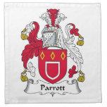 Escudo de la familia de Parrott Servilleta Imprimida