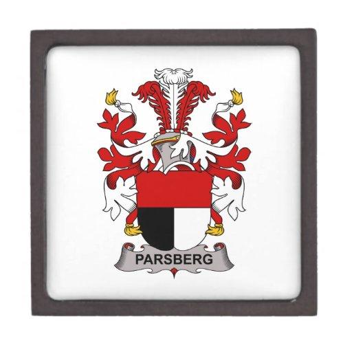 Escudo de la familia de Parsberg Caja De Recuerdo De Calidad