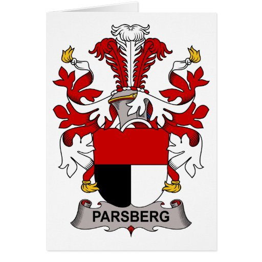 Escudo de la familia de Parsberg Tarjeta De Felicitación