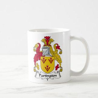 Escudo de la familia de Partington Tazas