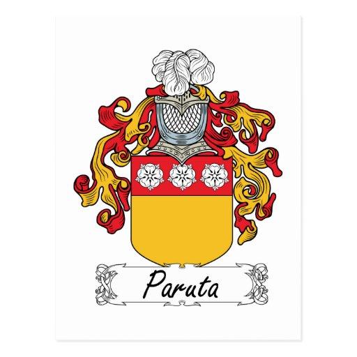 Escudo de la familia de Paruta Postal